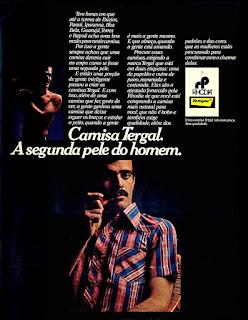 propaganda camisas Tergal anos 70; Rhodia decada de 70; 1975. propaganda década de 70. Oswaldo Hernandez. anos 70. Reclame anos 70