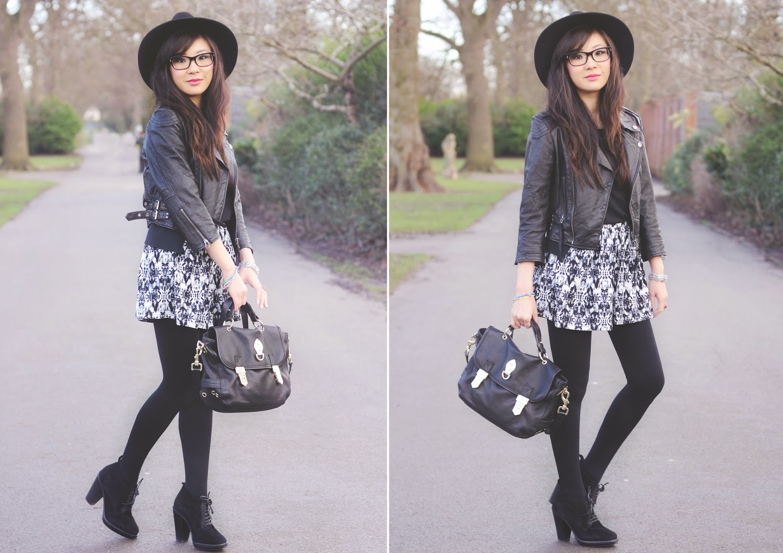 how to style black and white shorts