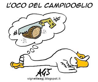 Marino, mafiacapitale, satira vignetta