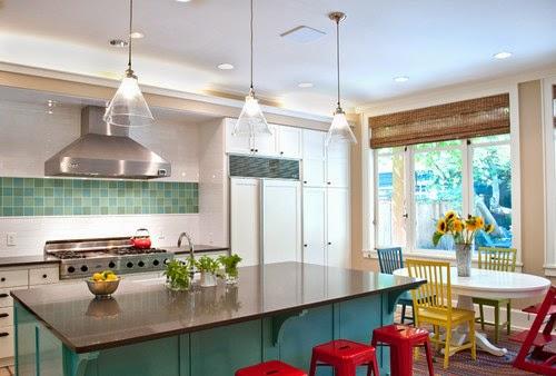 Dapur modern warna-warni