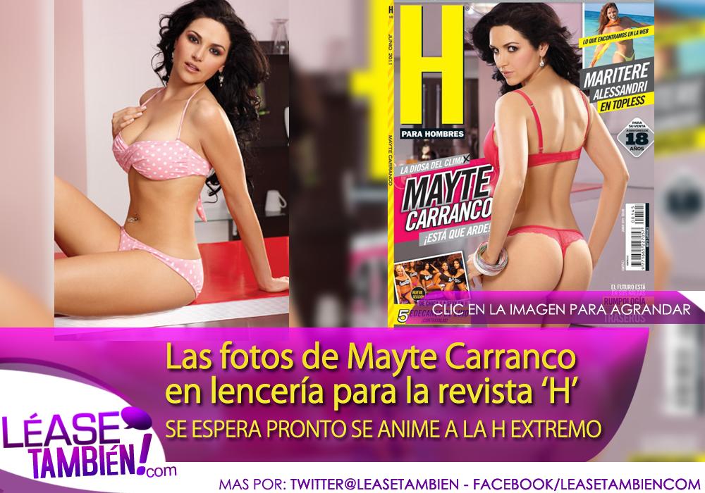 Las fotos de Mayte Carranco en lencería para la revista 'H'
