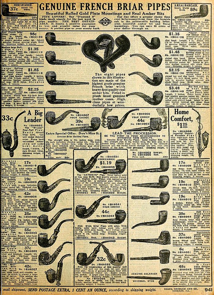 the briar files vintage ad genuine french briar pipes. Black Bedroom Furniture Sets. Home Design Ideas