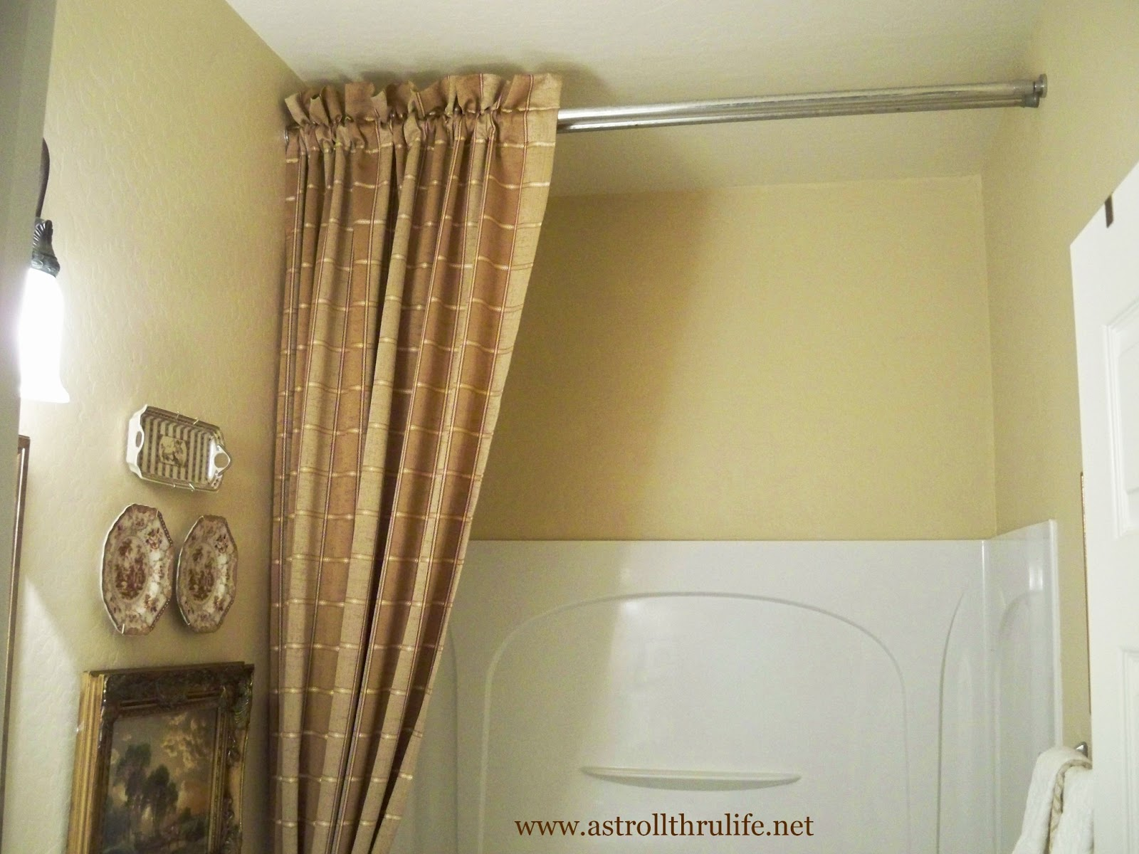 100 how high to hang curtains 9 foot ceiling for Bathroom 9 foot ceiling