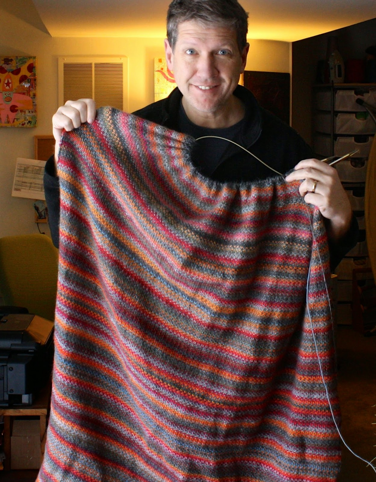 Knitting Blanket Stitch Seam : QueerJoes Knitting Blog: Pros and Cons of Linen Stitch