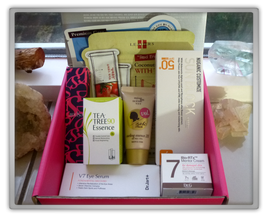 겟잇뷰티박스 by 미미박스 memebox Luckybox beautybox #2 unboxing review preview box inside products