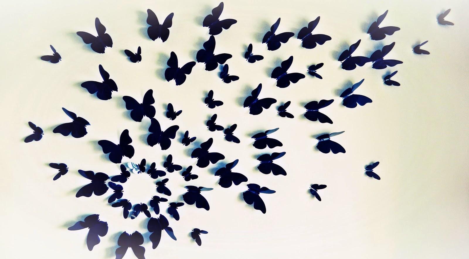 Декор стен бабочками своими руками: трафареты, материалы 82