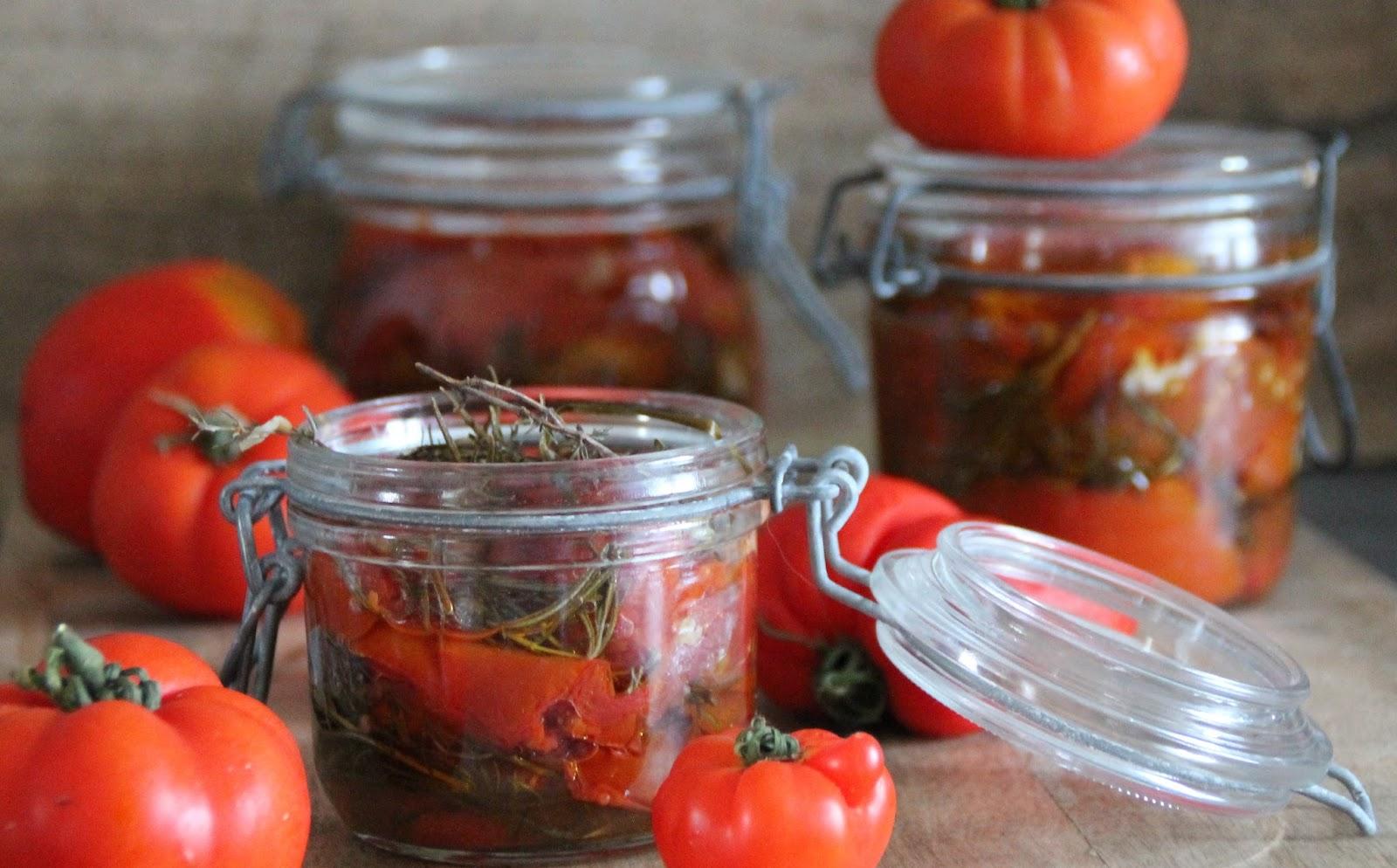 Flo bidouille en cuisine tomates r ties conserver - Comment conserver des courgettes du jardin ...