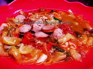 Resep Seblak macaroni Sosis Kuah Pedas