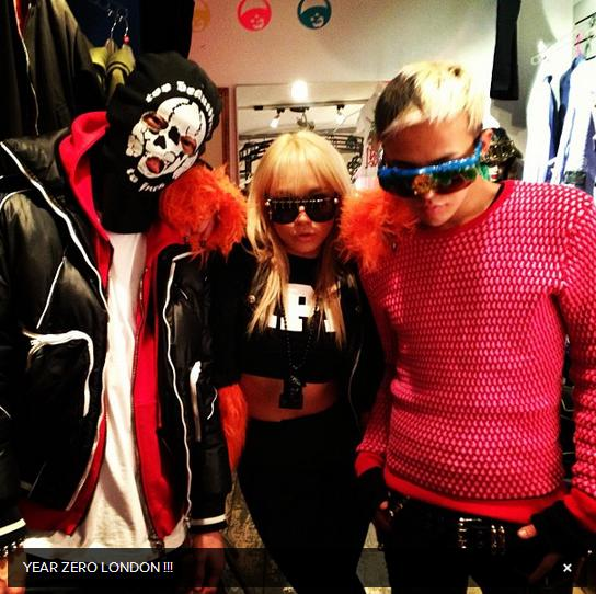 G-Dragon, CL & Yanggaeng at Year Zero London