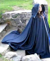 full-circle twill cloak