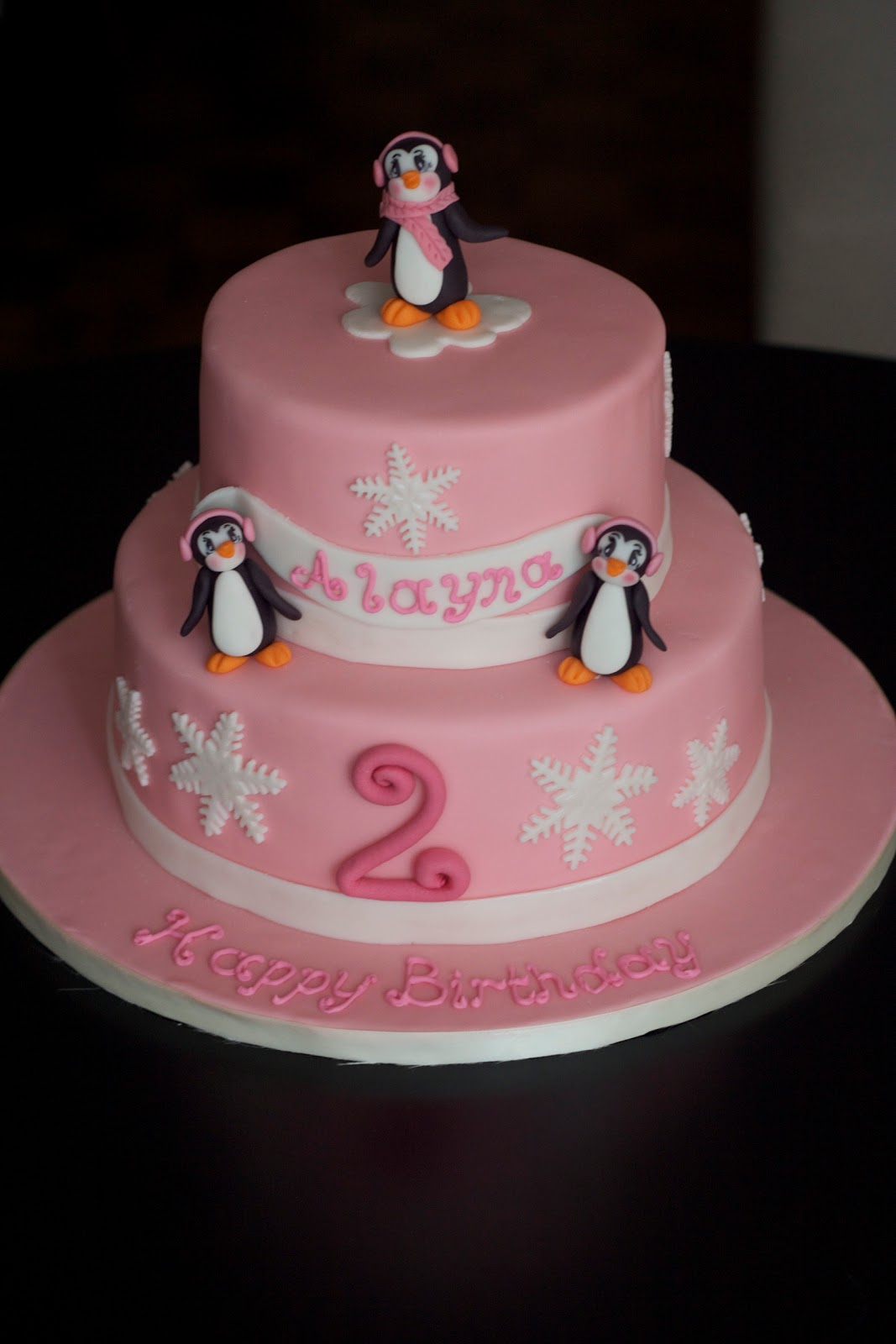 Cake Design For 2 Year Old Baby Girl : Sweet-D Cakes: We three penguins...