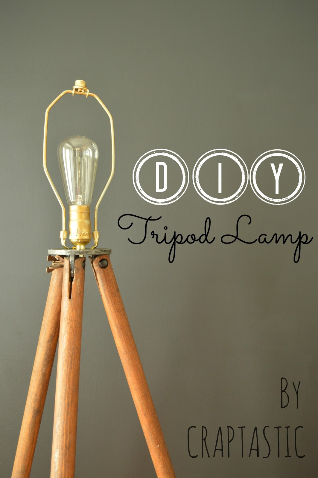 DIY Tripod Lamp And Dining Room Update
