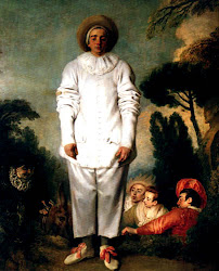 retrato de Antoine Watteau Pierrot. (Francia1684-1721)
