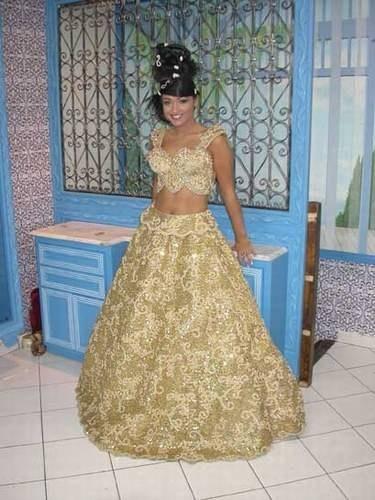 Coiffurete Dance: Robe de mariée tunisienne traditionnelle