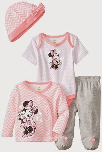 Disney Baby Baby-Girls Newborn Minnie Mouse 4 Piece Gift Set