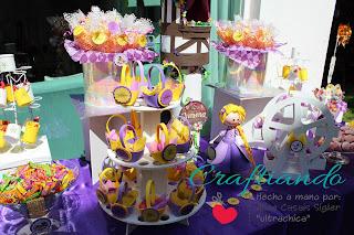 mesa de dulces rapunzel - candy bar tangled