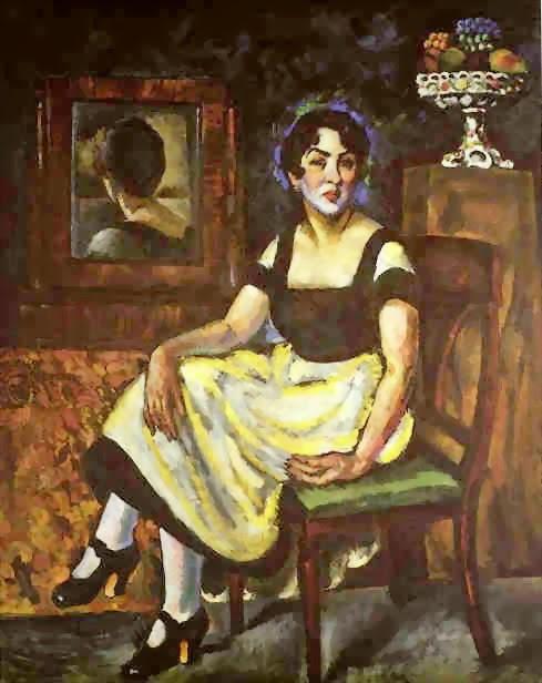 portret-de-femeie-cu-oglinda-ilia-maskov-1918
