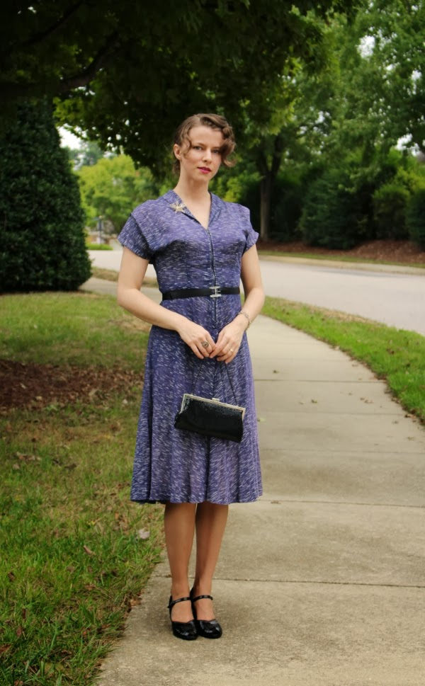 Outfit #3 of My Vintage Autumn Recap #1940s #fashion #40s #dress #swing