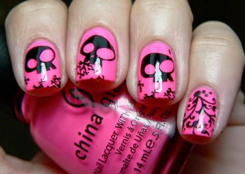 Uñas decoradas con carabelas, uñas para emos, diseños con dibujos ...