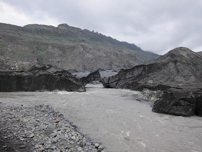The Solheimajokull glacier, Iceland