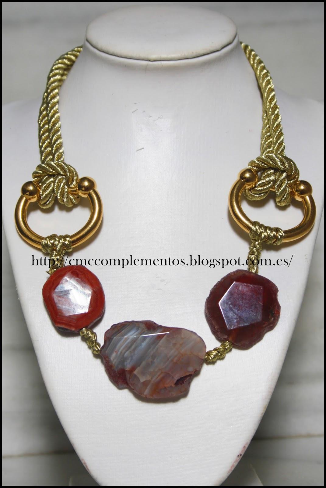 Cmc complementos collar 3 piedras naturales - Piedras para collares ...