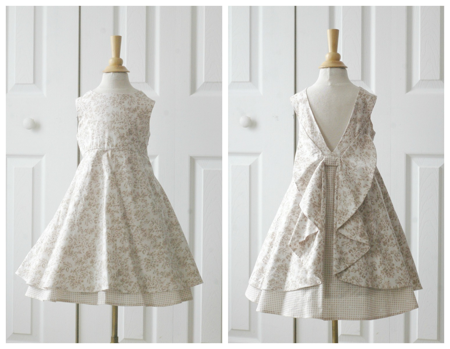 The dress garden - I Love The Simplicity Of The Front Of The Dress And Decided On Making A Version Without The Flounce And Added A Delicate Ribbon To The Waistline Seam