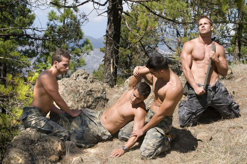 gay+soldiers Hot Summer Day is a free gay group sex porn video produced by William ...