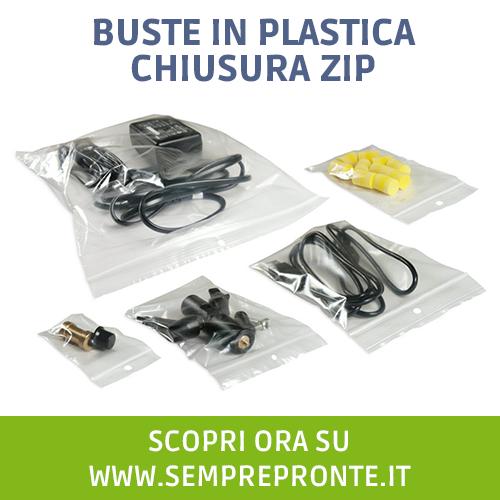 Buste in plastica Zip