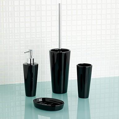 Home Decorations Black White Bathroom Accessories Black