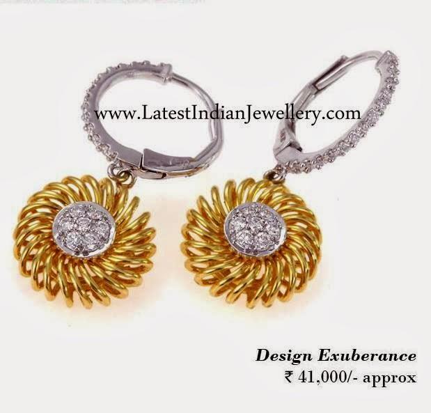 Fancy White Gold Earrings