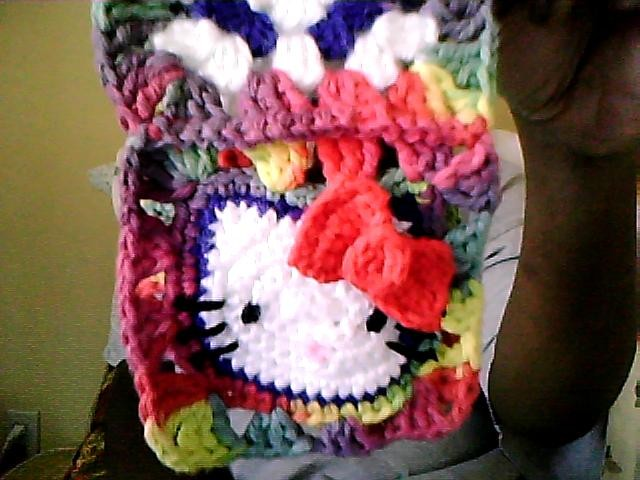My very own Hello Kitty Granny Square
