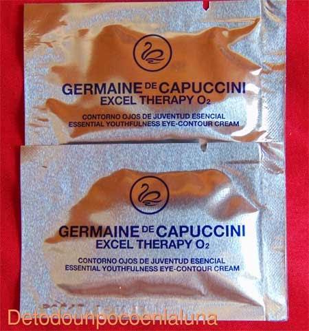 Muestras de Excel Therapy O2 de Germaine de Capuccini facilitadas por Germaine de Capuccini