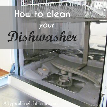 a typical english home cleaning a dishwasher with vinegar and baking soda. Black Bedroom Furniture Sets. Home Design Ideas