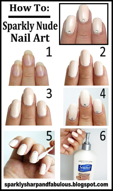 How To Sparkly Nude Nail Art A Sparkly Life For Me