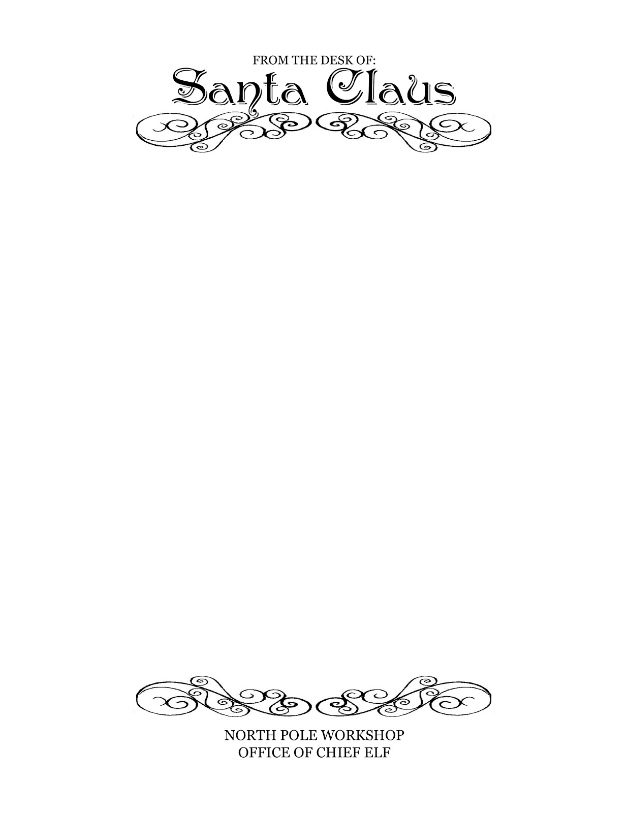 Printable Letterhead From Santa Claus | Homealterdecor.top