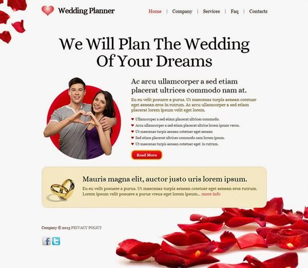 Wedding Planner - Free Joomla! Template
