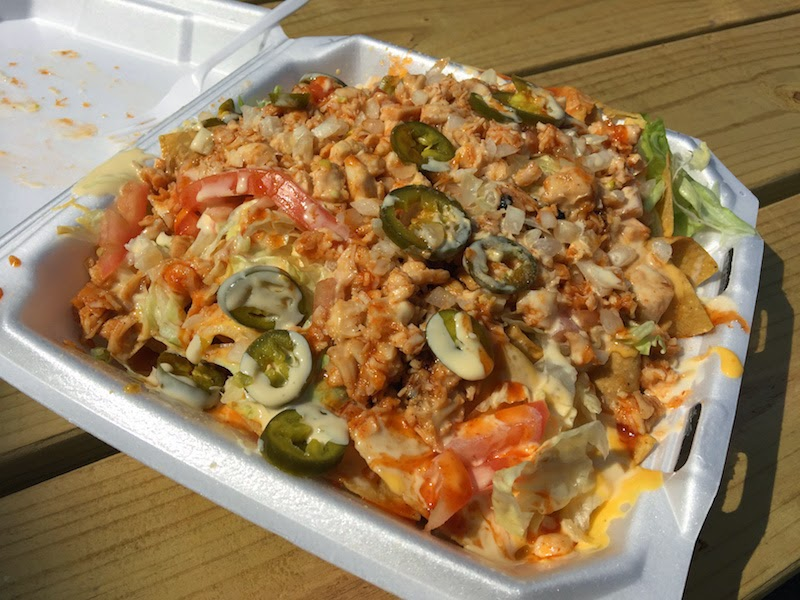 Sriracha chicken nachos at 3-D Dogs in Pensacola