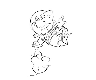 #11 Ness Coloring Page