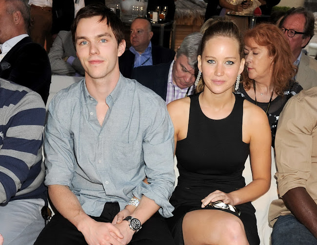 Jennifer Lawrence and  Nicholas Hoult at Amber Lounge Fashion Show Monaco