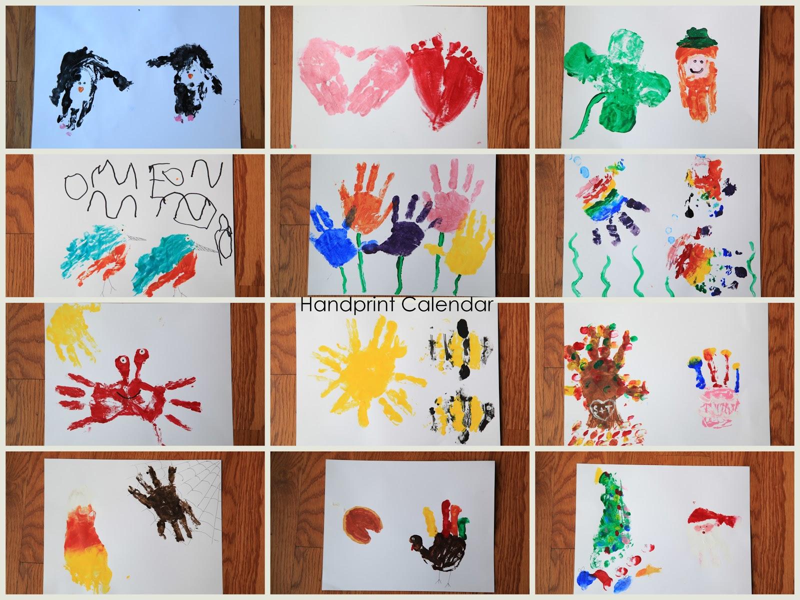 A Million Things I Love . . .: #657 - handprint calendar 2013