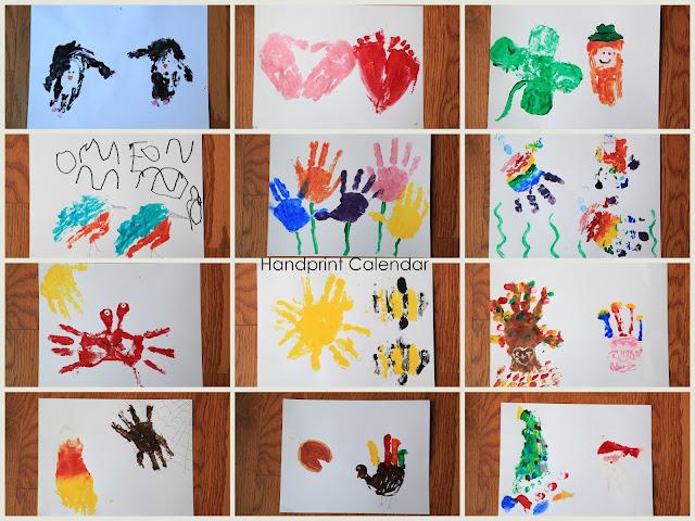 Preschool Xmas Calendar Ideas : A million things i love handprint calendar