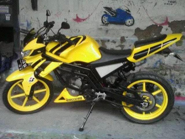 Modifikasi Honda Tiger Terbaru Yellow