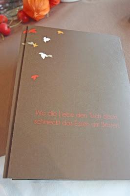 """Menükarten Blättertanz von """"die Kartenmacherei"""" - Herbsthochzeit am Riessersee"""