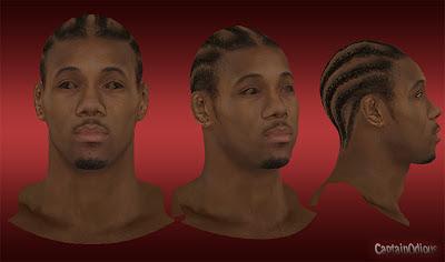 NBA 2K13 Kawhi Leonard Cyberface Mod