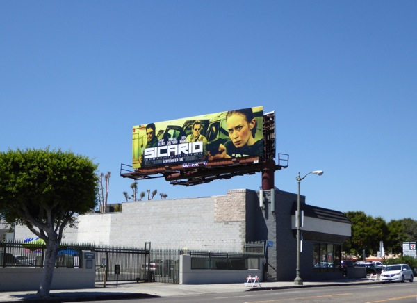 Sicario film billboard
