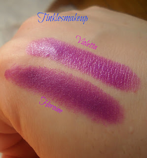 mac heroine vs mac violetta lipsticks