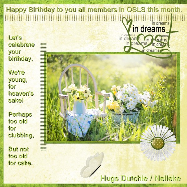 Jan.2016 - Happy Birthday to you all this month.