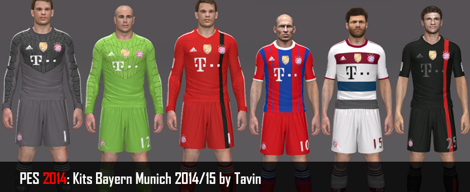 PES 2014: Kits Bayern Munich 2014/15 by Tavin