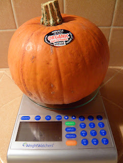 Small Pumpkin on Scale