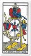 La rueda de la Fortuna. Tarot de Marsella.